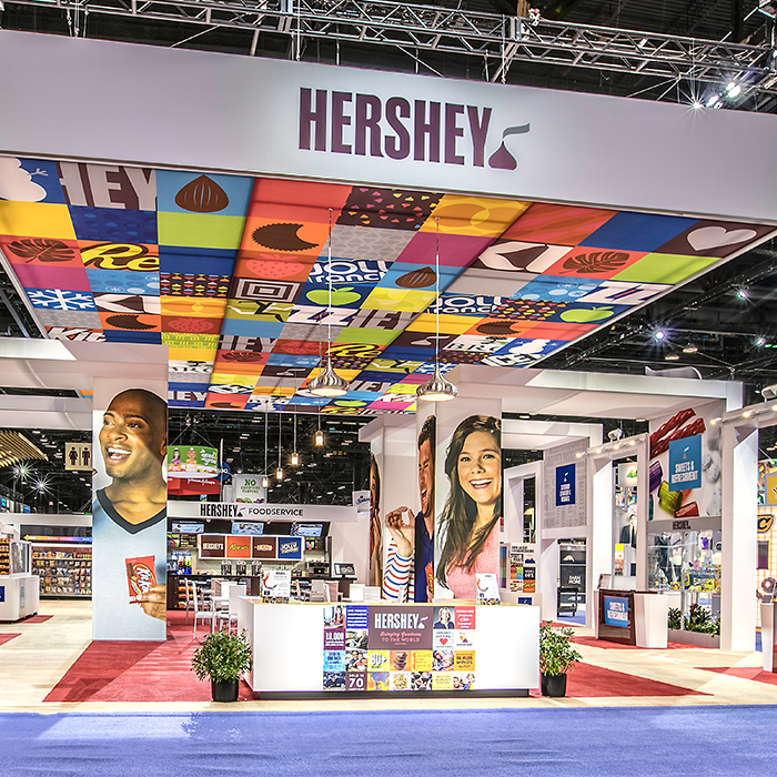 The Hershey Company trade event space at the National Association of Convenience Stores convention